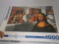 Puzzle - Bus Ride To Louvre - Mona Lisa - 1000 Teile
