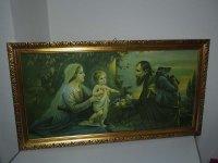 Bild - Druck - Heiligenbild - Maria + Josef + Jesus Kind...