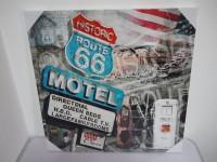 Bild - Leinwand - Kunstdruck - Motel 66 - Route 66 - Holz...