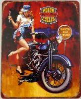 Blechschild - Wandschild - Motor Cycles - Speed King -...
