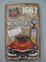Blechschild - Wandschild - Gestanzt - Route 66 - Mother...