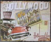 Blechschild - Wandschild - Hollywood - California - 25 x...