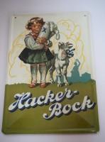 Blechschild - Hacker-Bock - 16,5 x 24,5 cm