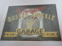 Blechschild - Genuine Busted Knuckle - Garage - No scar...