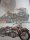 Blechschild - American Steel - Rebel´s Service Station - Motorrad - 32 x 44 cm