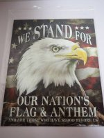 Blechschild - We stand for our Nation´s Flag &...