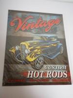 Blechschild - Vintage Custom Hot Rods - 31,5 x 40,5 cm