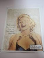 Blechschild - LAH Jewelers - Marilyn Monroe - 31,5 x 40,5 cm