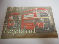 Blechschild - Leyland - London Transport - 40 x 30 cm