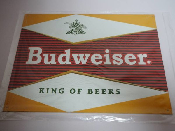 Blechschild - Budweiser - King of Beers - 40,5 x 31,5 cm