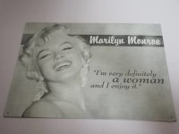 Blechschild - Marilyn Monroe - I´m a very...