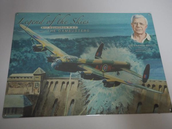 Blechschild - Legend of the Skies - 617 Squadron R.A.F. - Dambusters  40 x 30 cm