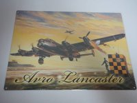 Blechschild - Avro Lancaster - Flugzeig - 40 x 30 cm