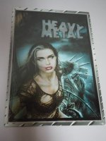 Blechschild - Heavy Metal - Girl - 29 x 42 cm