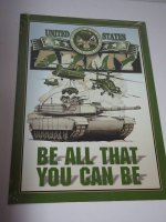Blechschild - United States Army - Be all that you can be...