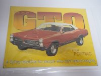 Blechschild - The New GTO from Pontiac - 40,5 x 31,5 cm