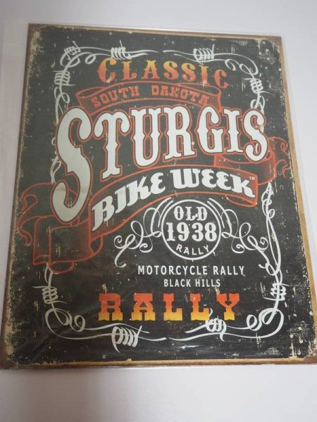 Blechschild - Classic South Dakota Sturgis Bike Week - 31,5 x 40,5 cm