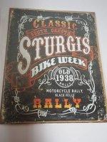 Blechschild - Classic South Dakota Sturgis Bike Week -...