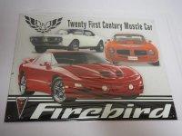 Blechschild - Firebird - Twenty First Century Muscle Car...