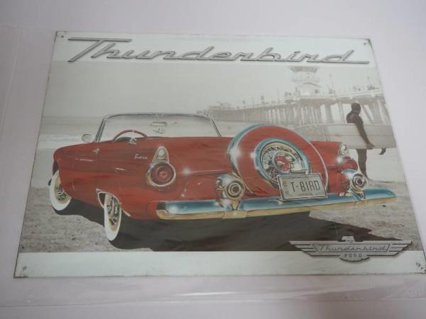 Blechschild - Ford Thunderbird - 40,5 x 31,5 cm