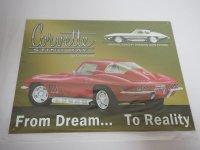 Blechschild - Corvette Sting Ray by Chevrolet - 40,5 x...