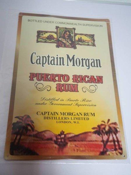 Blechschild - Captain Morgan - Puerto Rican Rum - 30,5 x 44,5 cm