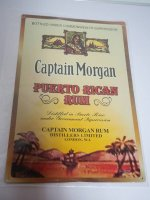 Blechschild - Captain Morgan - Puerto Rican Rum - 30,5 x...