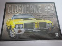 Blechschild - Oldsmobile 442 - General Motors - 40,5 x...