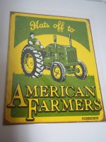 Blechschild - Hats off to American Farmers - 31,5 x 40,5 cm