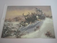 Blechschild - Muleys on Creek - Ted Blaylock - 40,5 x...