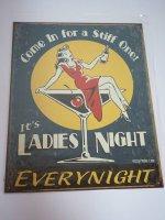 Blechschild - It´s Ladies Night - 31,5 x 40,5 cm