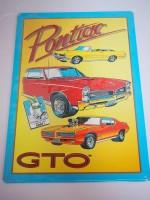 Blechschild - Pontiac GTO - 29,5 x 43 cm