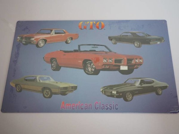 Blechschild - GTO - American Classic - 42,5 x 27 cm