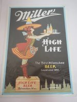 Blechschild - Millers High Life - The Best Milwaukee Beer...