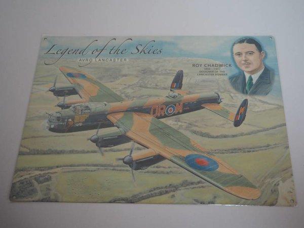 Blechschild - Legend of the Skies - Avro Lancaster - 40 x 30 cm
