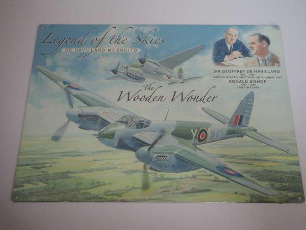 Blechschild - Legend of the Skies - De Havilland Mosquito - 40 x 30 cm