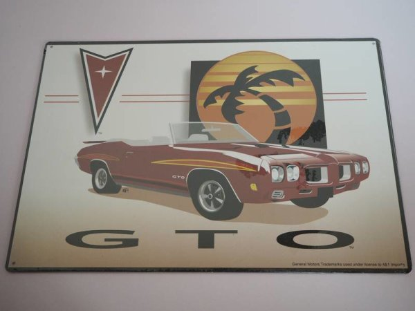 Blechschild - GTO - General Motors - 40 x 29 cm