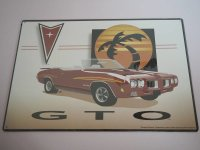 Blechschild - GTO - General Motors - 40 x 29 cm