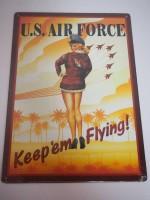 Blechschild - U.S. Air Force - Keep ´em Flying - 30...
