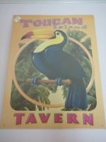 Blechschild - Toucan Island Tavern - 31,5 x 44 cm