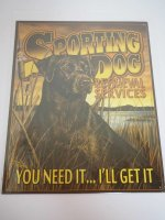 Blechschild - Sporting Dog - Retrieval Services - 31,5 x...