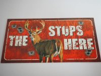 Blechschild - The Buck Stops here - 40,5 x 21,5 cm
