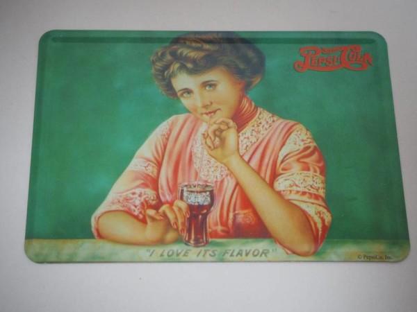 Blechpostkarte - Pepsi Cola - I love it´s flavor - 14 x 10 cm