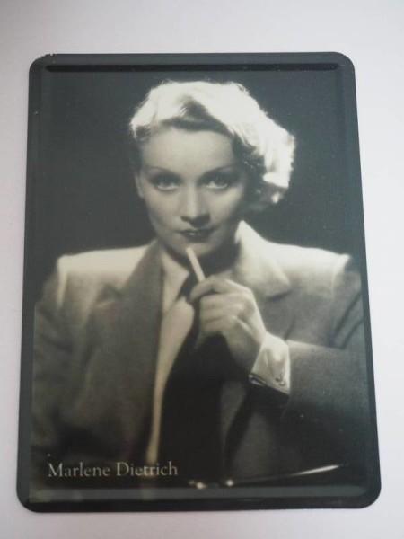 Blechpostkarte - Marlene Dietrich - 10 x 14 cm