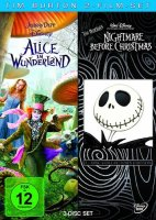 Alice im Wunderland / Nightmare before Christmas - 3 DVDs