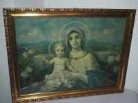 Bild - Druck - Heiligenbild - Maria mit Jesus Kind - 80 x...