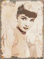 Blechschild - Audrey Style - 25 x 33 cm
