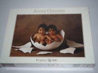 Puzzle - Anne Geddes - Babys in Eierschale - Blatz - 900...