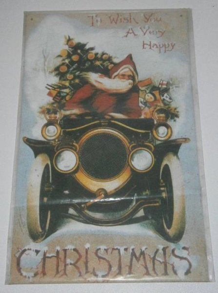 Blechschild - I wish you a very happy Christmas - 25 x 40 cm